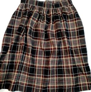Modcloth wool blend plaid skirt size Medium